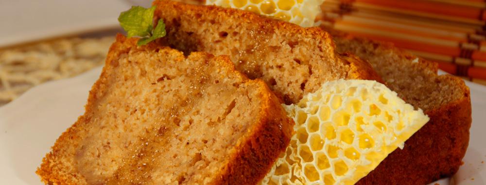 Bizcocho con plátano con miel (sin huevo)