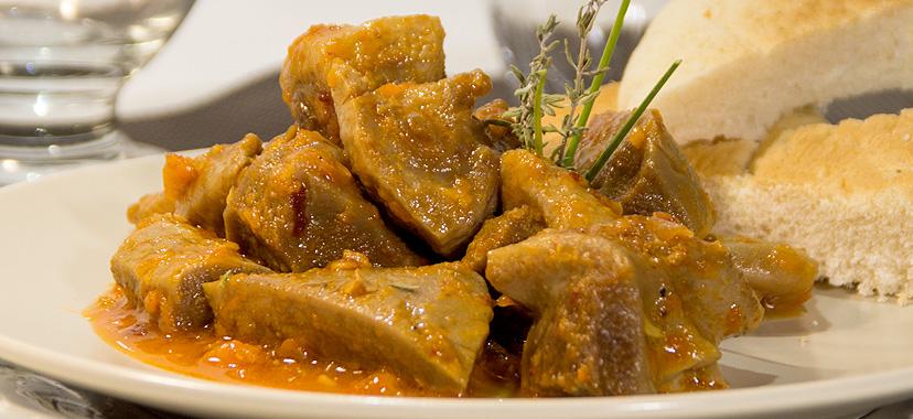 Morritos de ternera en salsa