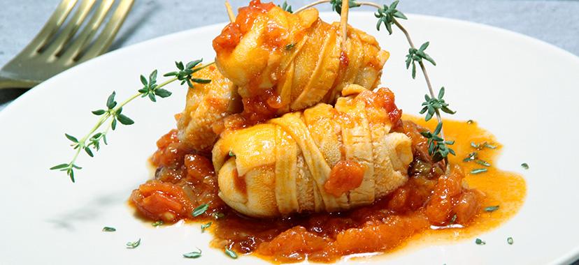 Revoltillos en salsa de tomate