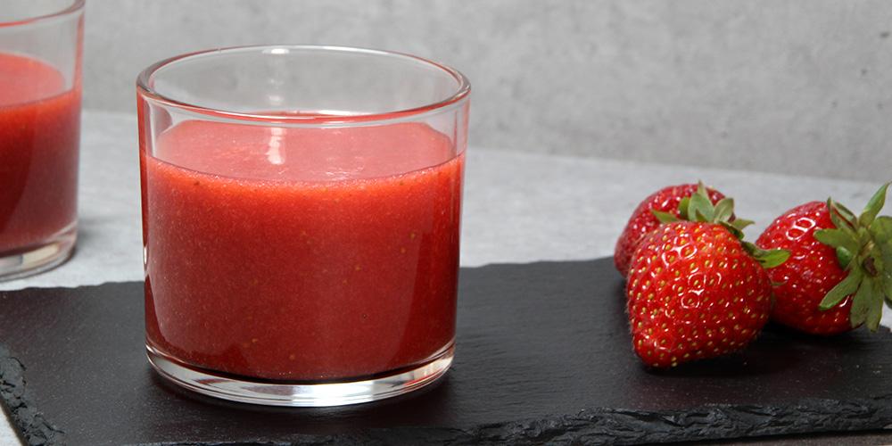 Gazpacho de fresas en Mastermix