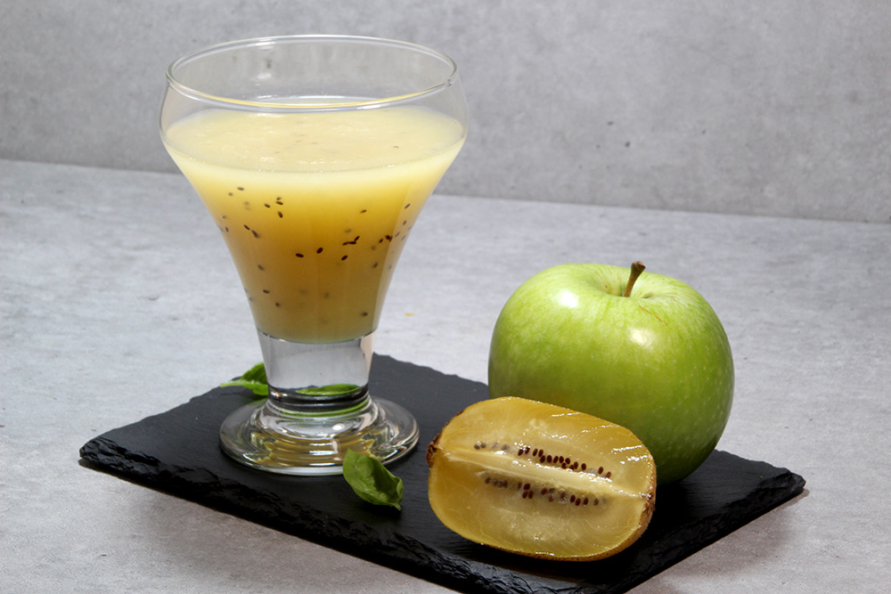 Zumo de manzana verde y kiwi